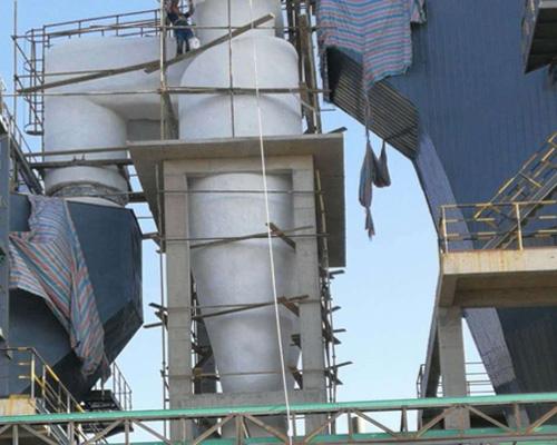 旋风除尘器保温工程-铜陵有色集团冶化公司